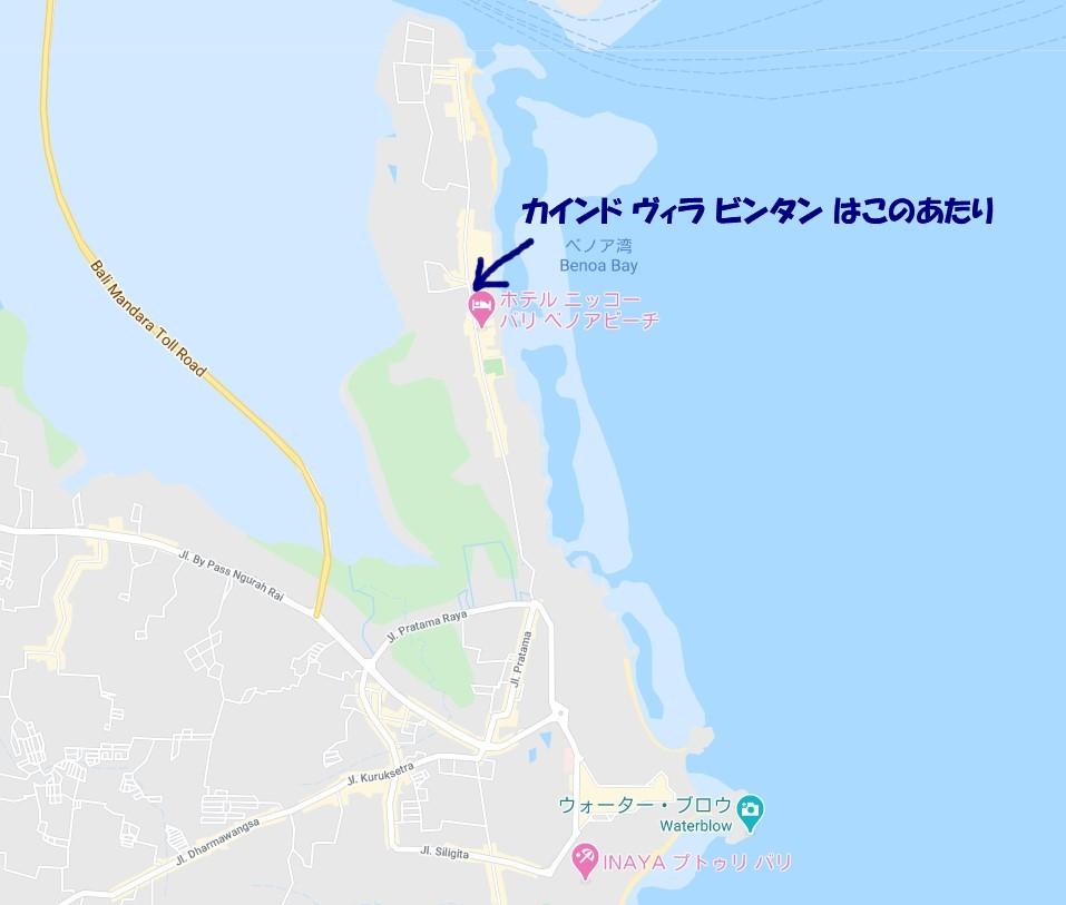 ベノア半島の地図