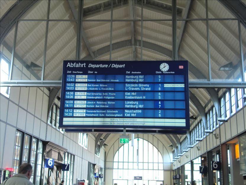 海外の駅の時刻表
