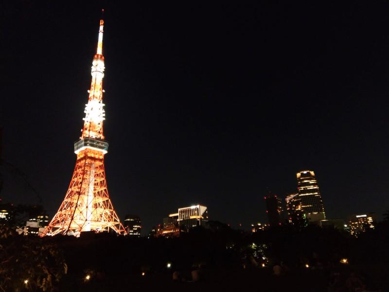 夜景の東京タワー