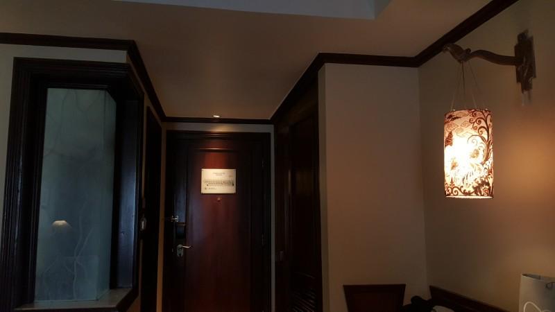 バリ島 クタのホテル 部屋の中から入口を見る 左にシャワーブース