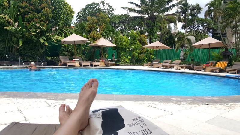 バリ島 クタのホテルのプール