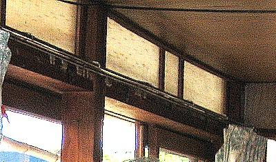 古い木造建築の一部