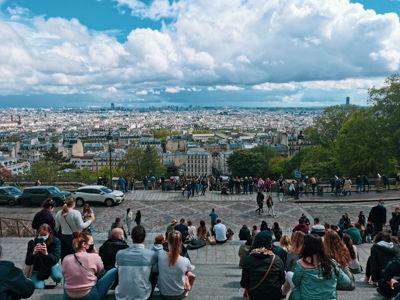 サクレ・クール寺院前からのパリの眺め