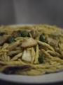 ポルチーニ茸とオクラのパスタ