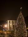 コンスタンティヌス帝の凱旋門とツリー