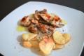 塩麹ゆかり漬け鶏の胸肉の焼きとノンオイル・ポテトチップ