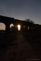 水道橋遺跡と夕陽