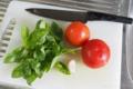 トマトとバジルとニンニク
