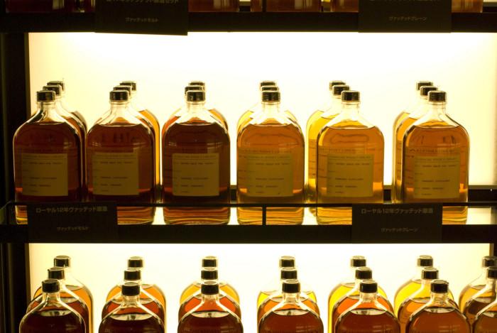 サントリーウイスキー工場にて
