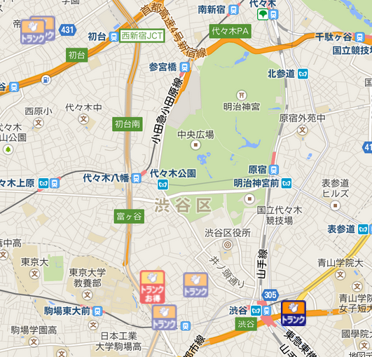 渋谷区エリア