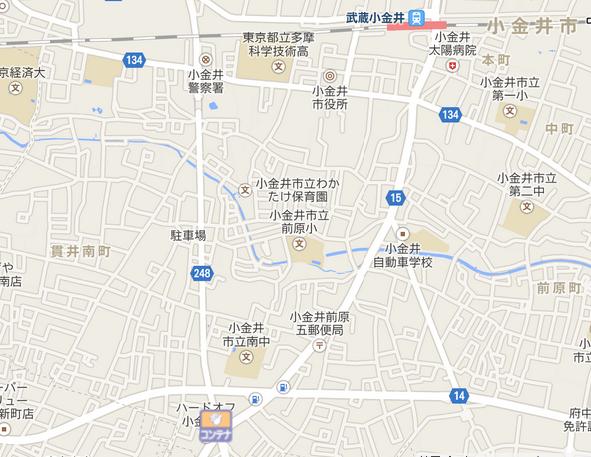 小金井市エリア