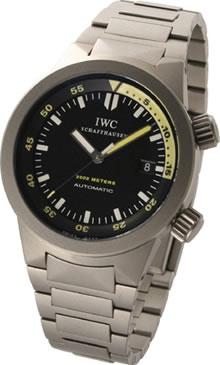 腕時計 IWC アクアタイマー IW353803 メンズウォッチ 200気圧防水 (ブラック文字盤xチタンベルト)