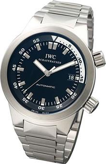 腕時計 IWC アクアタイマー IW354805 メンズウォッチ (ブラック文字盤)