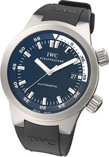 腕時計 IWC アクアタイマー IW354807 メンズウォッチ (ブラック文字盤xブラックラバーベルト)