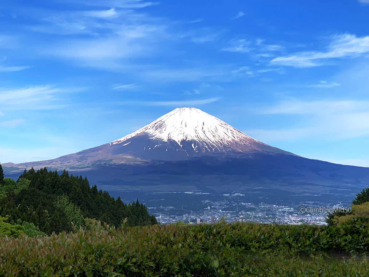 乙女森林公園第2キャンプ場 No.2から望む 富士山