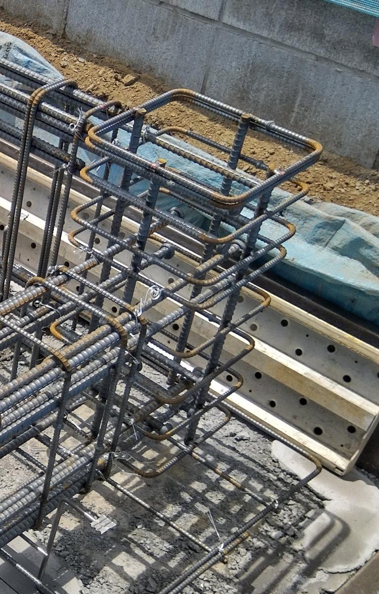 柱を支える土台の基礎配筋