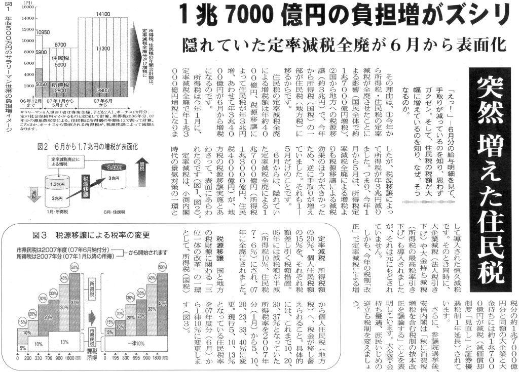 国公労新聞2007年06月10日_住民税