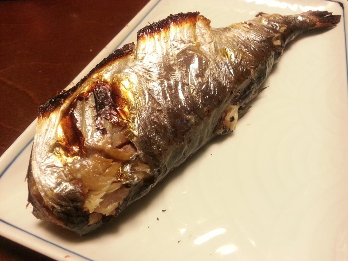 一日寝かせた焼き魚の写真