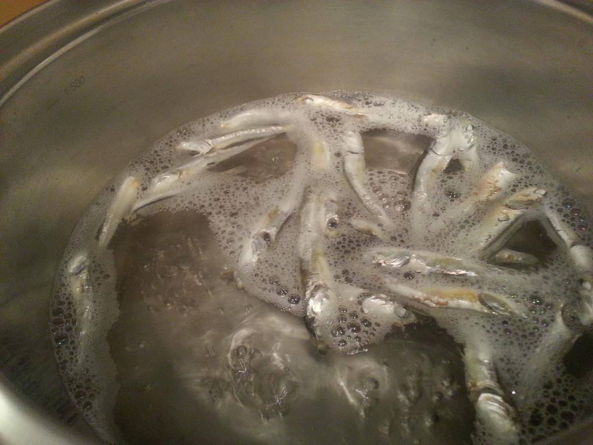 沸騰した鍋の写真