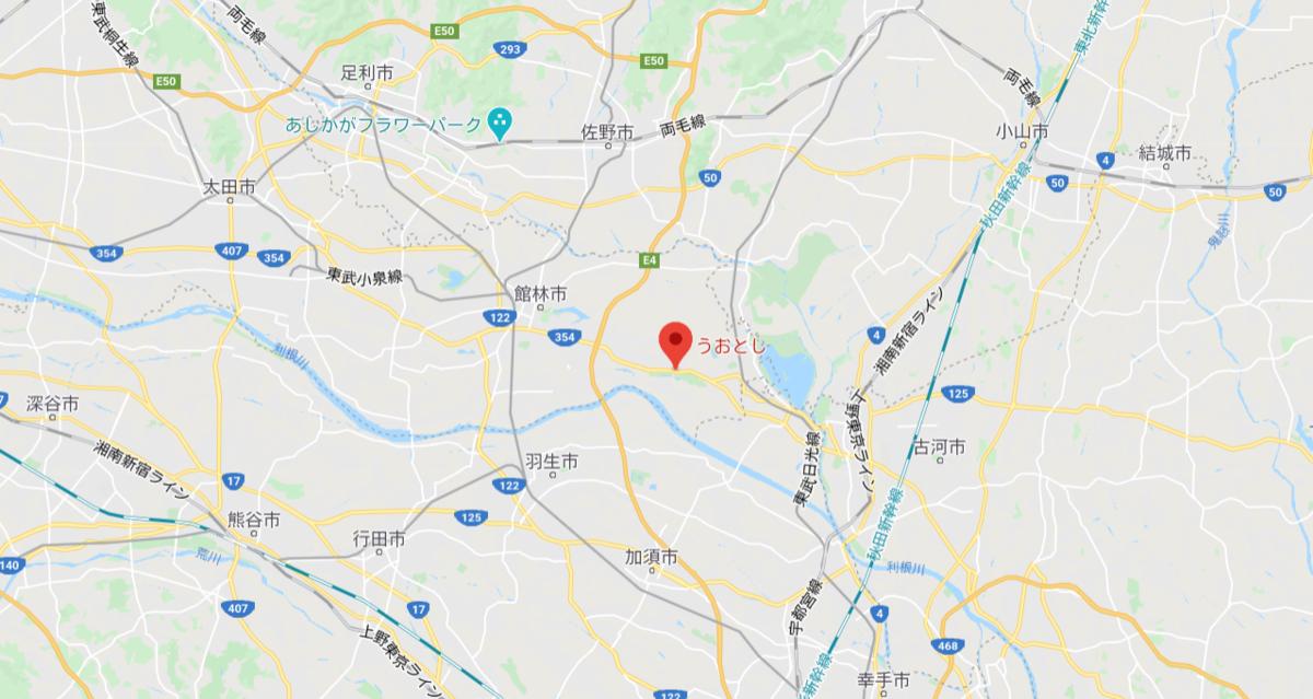 板倉町の位置