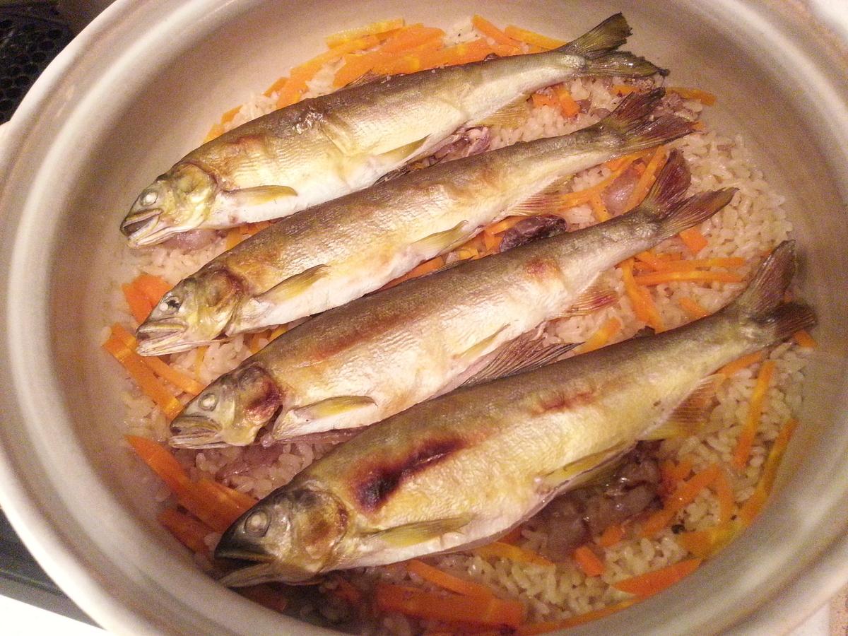 土鍋 鮎飯 炊き込みご飯