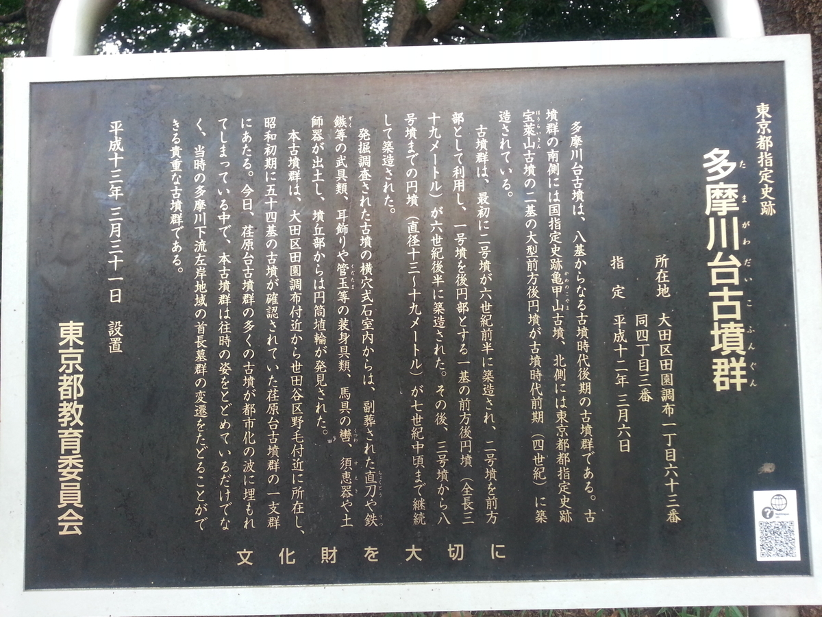 多摩川台公園 古墳群