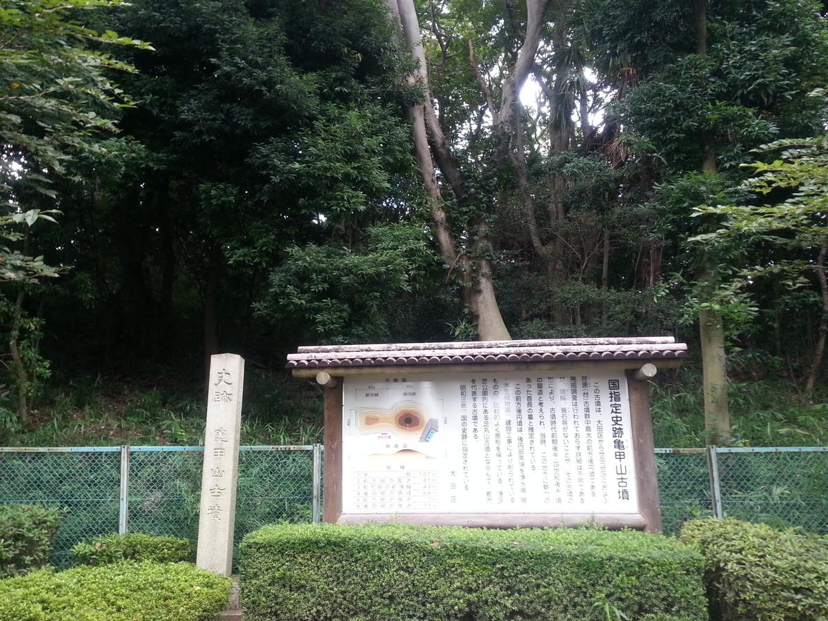 多摩川台公園 亀甲山古墳