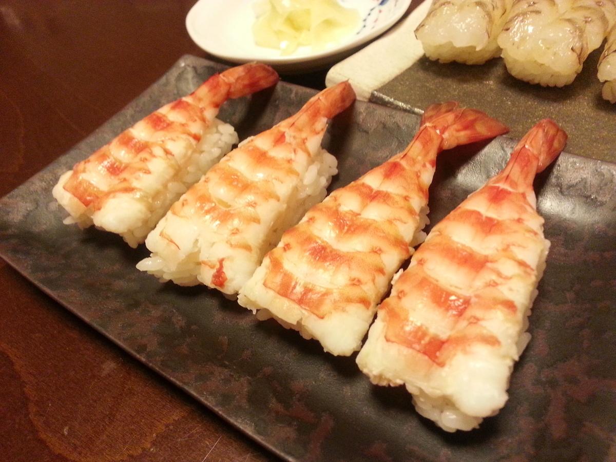 茹で車海老 握り寿司