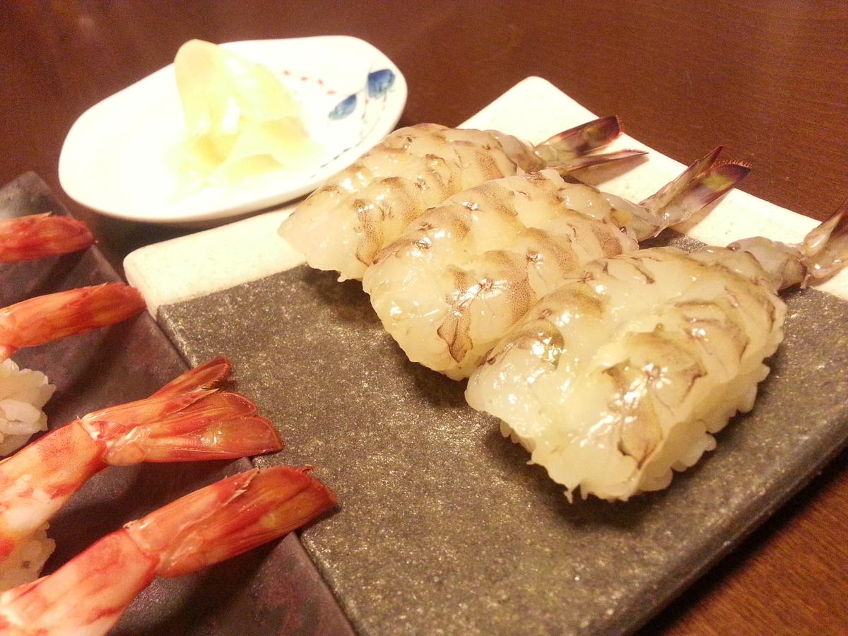 生車海老 握り寿司