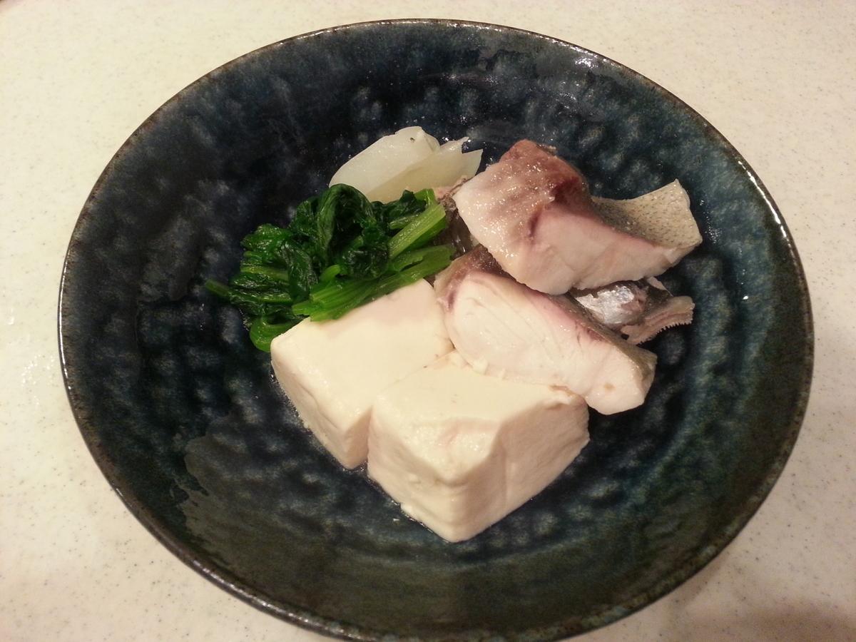 シマアジ アラ マース煮(塩煮)