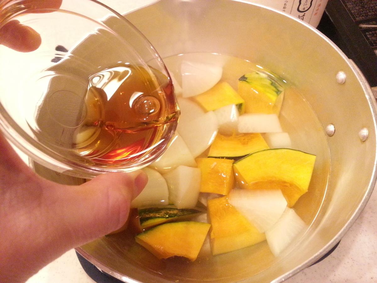 煎り酒を使う大根とカボチャの煮物