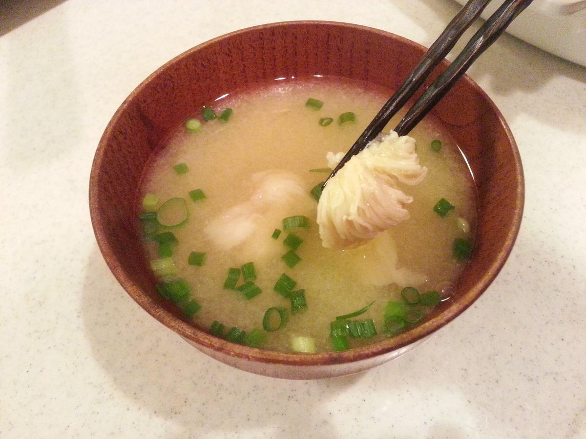ヤマブシタケ(山伏茸)の味噌汁