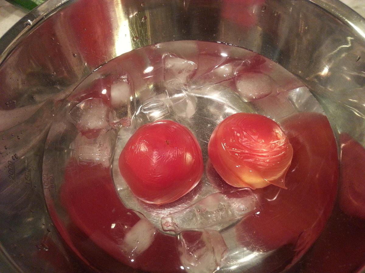 トマトジュース素麺 トマト湯剥き