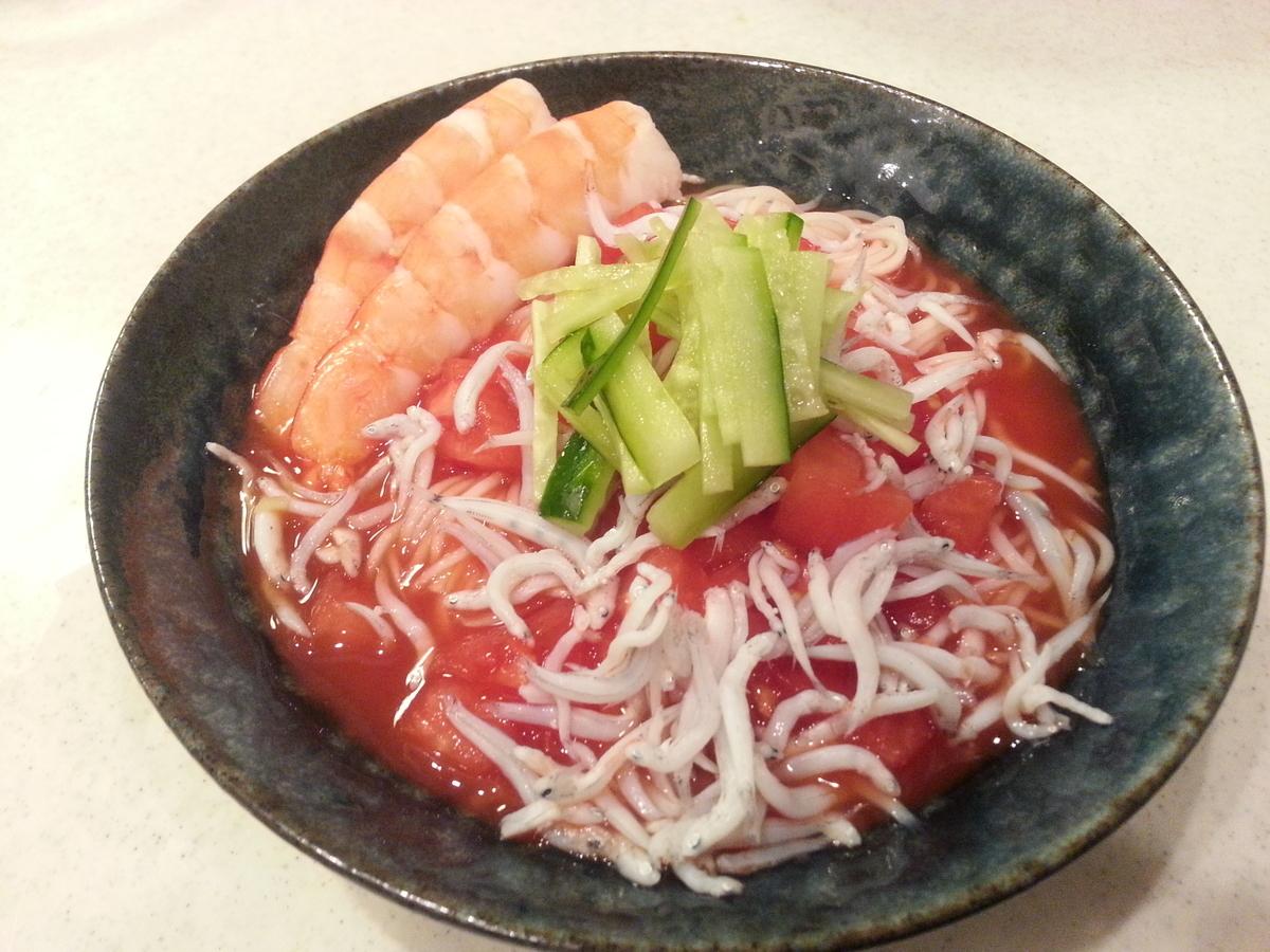 トマトジュース素麺