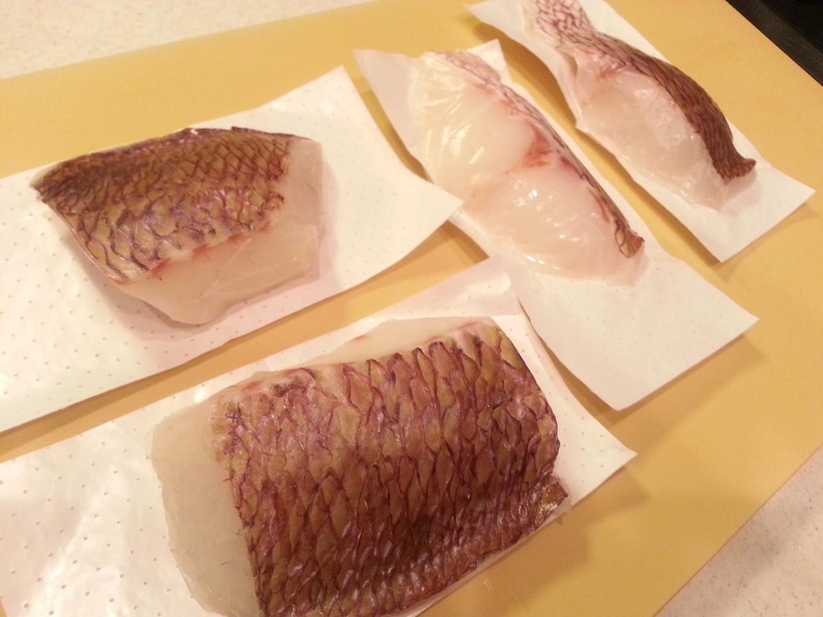 ふく成 真鯛の切身 氷水解凍方法