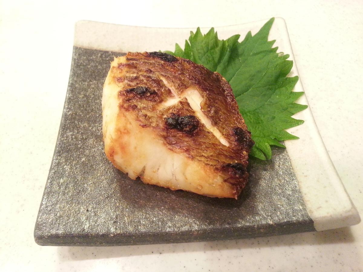 「ふく成・真鯛の切身」塩焼き