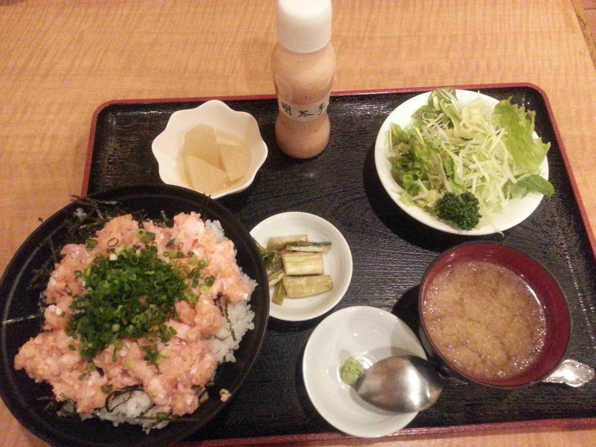 信州サーモン ネギトロ丼
