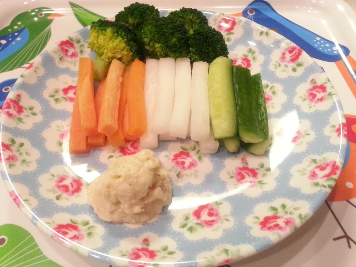 チーズクリームディップ 野菜スティック