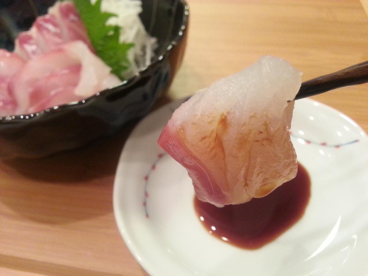 山内鮮魚店 マダラの刺身