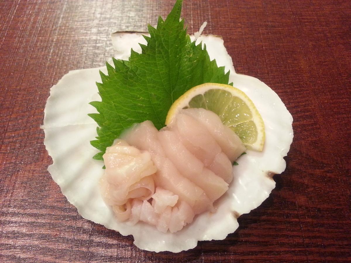 山内鮮魚店 ホタテの刺身