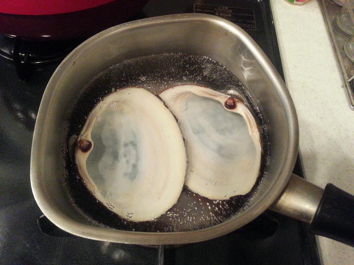 ホッキ貝の刺身の作り方