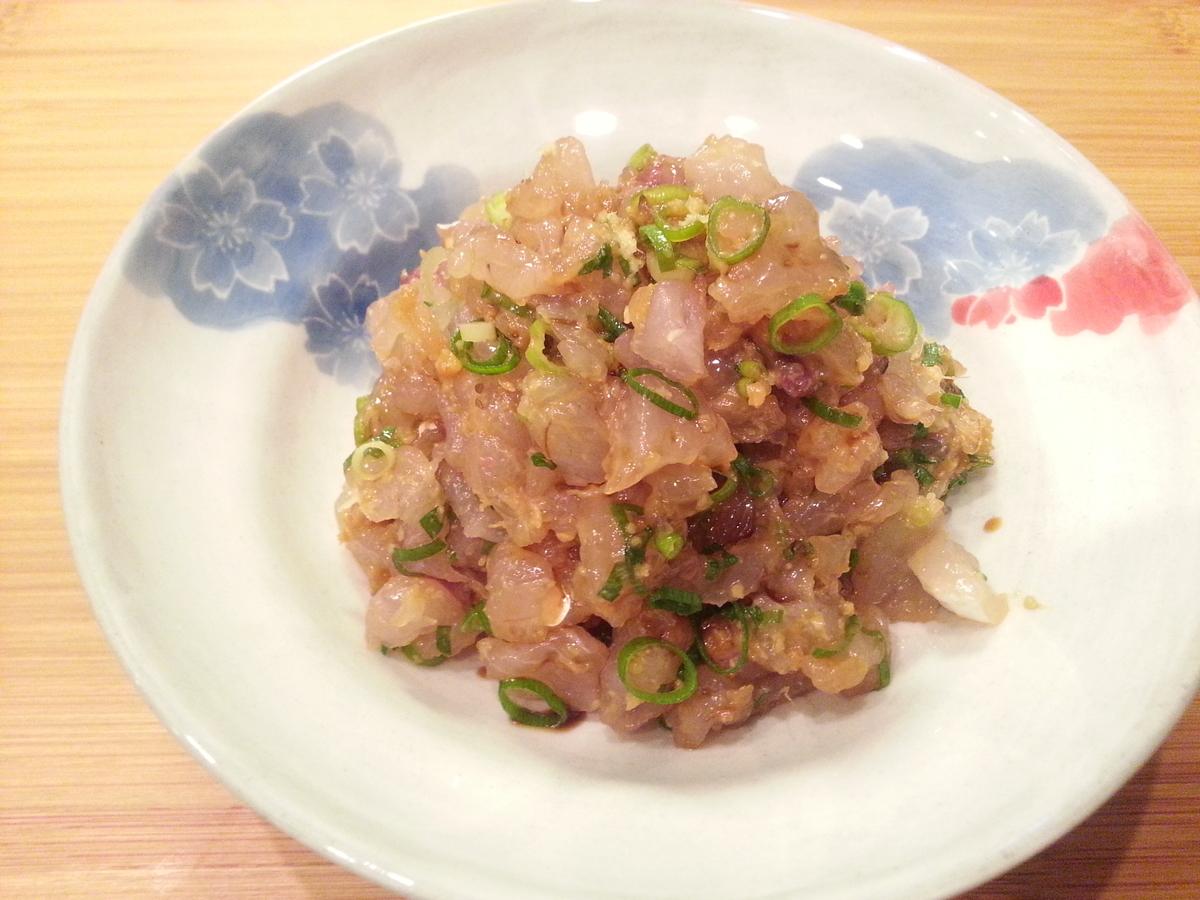 トビウオのタタキ(出汁茶漬け)