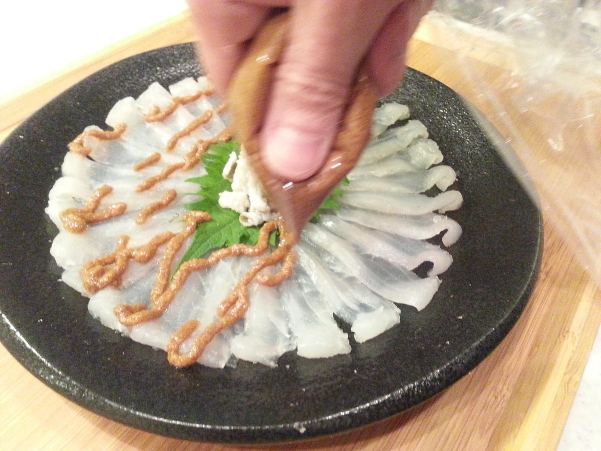 ウマヅラハギの薄造りの作り方