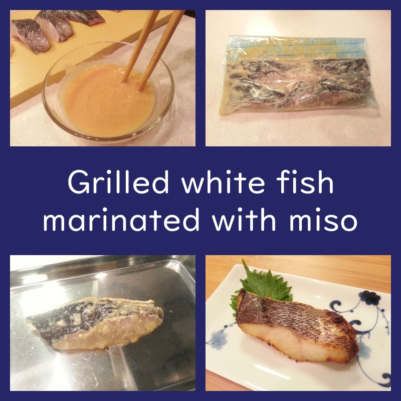 grilled white fish marinated with miso