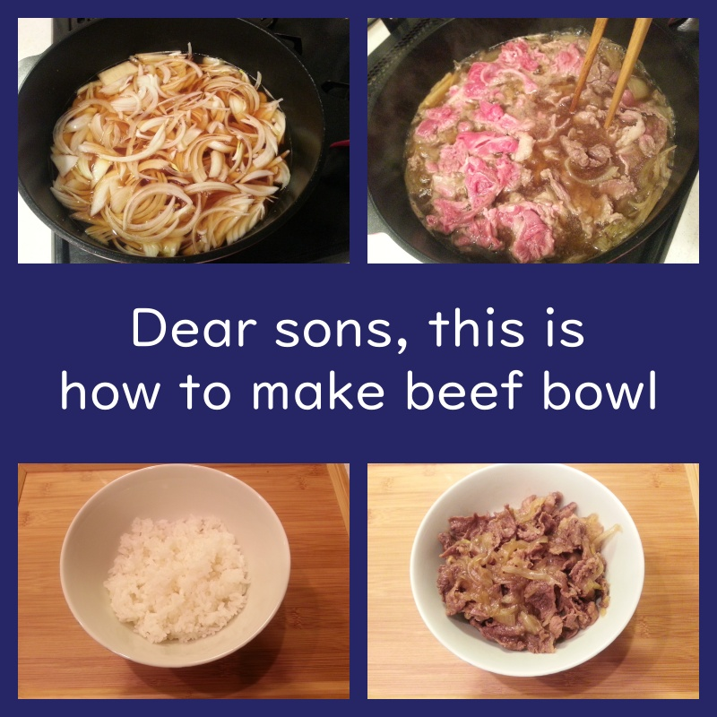 How to make beef bowl