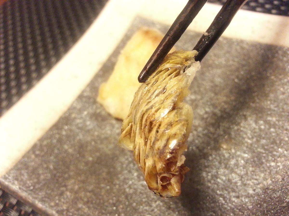 真鯛の鱗と皮の唐揚げ