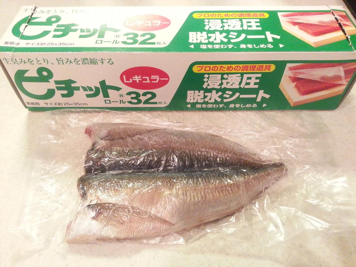 魚(アジ)の干物の燻製 作り方