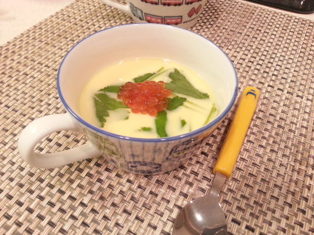 子供用に作った海鮮茶碗蒸し