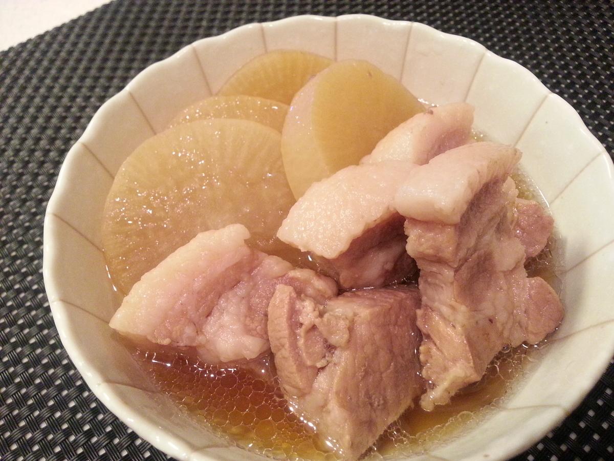 茅乃舎だし 豚肉と大根の煮物