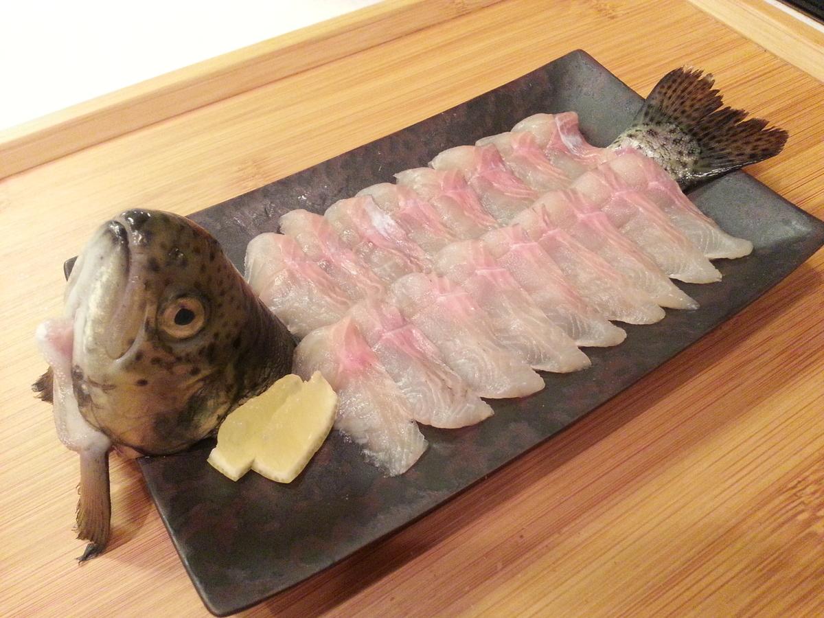 養殖ニジマス(サーモン)の刺身 作り方
